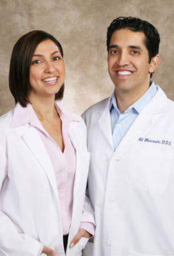 Top OC dentists Dr. Ali and Dr. Shery Mansouri